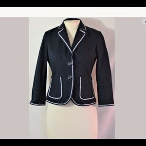 J.Crew Navy Blue Cotton Blazer Jacket Size 4